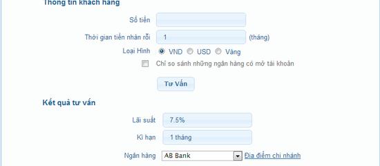 Tháng 6/2013, BeRich bổ sung các công cụ hỗ trợ tính tiền gửi, vay ngân hàng